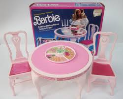 barbie dining room vintage barbie 1984 dining room table and chairs from the dream