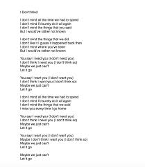 Don T Think So But - psychic ills i don t mind lyrics for those who have asked facebook