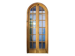 Salvaged French Doors - french antique glass door panels arched double glass door clear