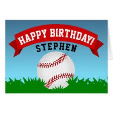 baseball happy birthday cards invitations zazzle au