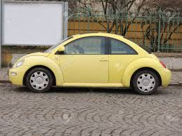 volkswagen beetle yellow prague czech republic circa march 2015 yellow volkswagen