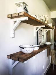 Barn Wood Floating Shelves by Best 25 Reclaimed Wood Shelves Ideas On Pinterest Diy Wood