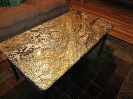 Granite Top Coffee Table Rectangle Tropical Brown Granite Coffee Table Top With Black Tone