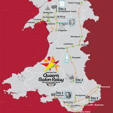 map of baton commonwealth s baton relay route revealed