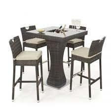 4 Seater Patio Furniture Set - maze rattan 4 seat bar garden furniture set with ice bucket