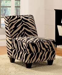 Zebra Dining Room Chairs Funiture Cute Zebra Accent Chairs In Bold Fabric Upholstery Also