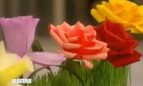 Paper Flowers Video - video crepe paper flowers martha stewart