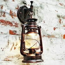 wall mounted lantern lights nordic vintage edison barn lantern iron kerosene l oil wall light