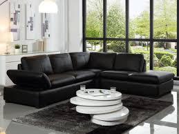 canap d angle et noir canapé d angle en cuir noir chocolat ou ivoire onyx ii