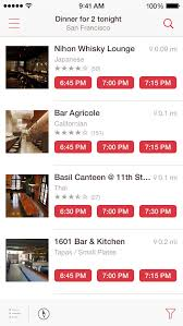 Open Table Washington Dc Opentable Ios App