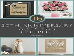30 year anniversary ideas 30 30th wedding anniversary gift ideas for him 30