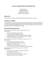 Types Of Skills Resume Cover Letter Examples Insurance Insurance Broker Cover Letter