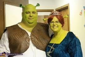 Shrek Halloween Costumes Adults Shrek Fiona Couple Costume