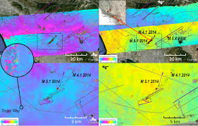 Washington State Earthquake Map by Nasa Radar System Surveys Napa Valley Quake Area Nasa