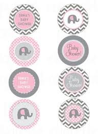 pink and grey elephant baby shower pink grey girl elephant baby shower cupcake by adlyowlinvitations
