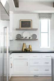 kitchen style white wooden open shelves cabinets white porcelain