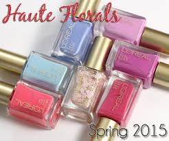 l u0027oreal spring 2015 nail polish collection haute florals all