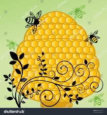 honeycomb bee hive flourish vine stock vector 99107621 shutterstock