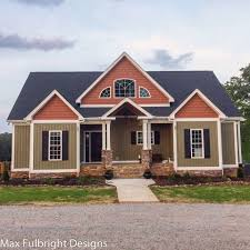craftsman home designs 4 bedroom house plan craftsman home design by max fulbright