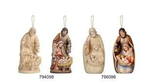 nativity ornaments wood carved block nativity block