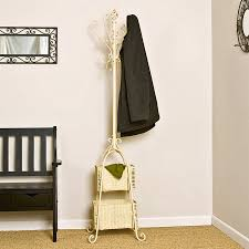 standing coat hanger smart solution for organizing your coats free standing coat hanger in cream with box storage stand at base