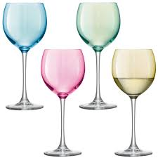 wine glasses lsa international pastel polka wine glass 4 pack
