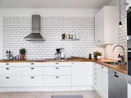 green subway tile kitchen white wall to make bright impression