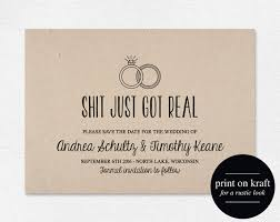 funny save the date printable just got real wedding