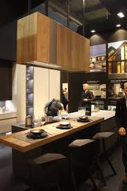 modern kitchen island ideas that reinvent a classic leicht wood hood light