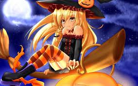 anime girls halloween walldevil