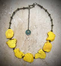yellow turquoise necklace images Turquoise slab necklace yellow necklace chunky turquoise JPG