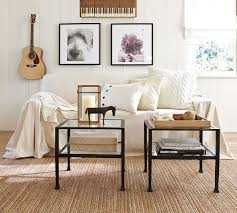 Slipcovers From Drop Cloths Twill Dropcloth Slipcover Pottery Barn