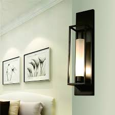 wall light indoor athway sconce el decoration lights up down vintage wall light wall sconces black painting e27 e26 h60cm glass wall lamp for bed room