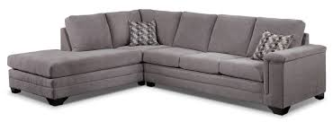 living room esf modern sectional sofa in grey with left facing