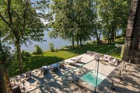 modern mansion high tech modern mansion on river richelieu with wide overlooking