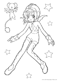 cardcaptor sakura color page coloring pages for kids cartoon