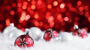 picture of silver and red christmas ornaments all can download