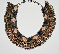 beaded home decor african princess beaded choker necklace silver gray gold black