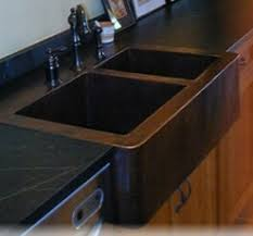 what faucet goes with a copper sink soapstone sinks and countertop