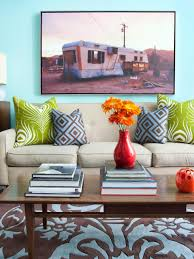Red Blue And Grey Living Rooms Aqua Color Palette Aqua Color Schemes Hgtv