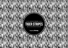 black white tiger pattern background free vector