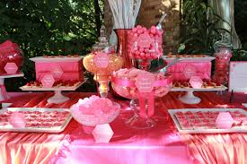 Pink Wedding Candy Buffet by Chicago Sweet Tables Chicago Botanic Garden Sweet Table