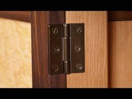 How To Lock Kitchen Cabinets 123 How To Install A Hinge Mortise Youtube
