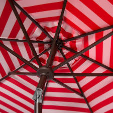 Striped Patio Umbrella 9 Ft by Pat8007f Umbrellas Furniture By Safavieh