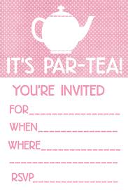 printable tea party invitations oxsvitation com
