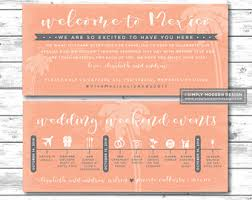 destination wedding itinerary wedding itinerary etsy