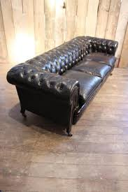 Laminate Flooring Chesterfield Vintage Black Leather Chesterfield Sofa For Sale At Pamono