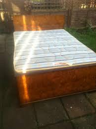 Vono Bed Frame 1920 S 1930 S Deco Vono 4 6 Walnut Bed With Matching
