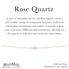 rose quartz stone bracelet images Maemae jewelry genuine stone minimal rose quartz bracelet jpg
