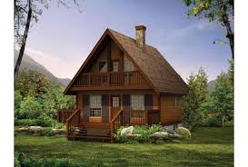chalet house eplans cottage house plan getaway chalet 1073 square and